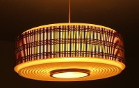 Late sixties lampshade, modern and ethnic