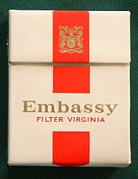 Embassy filter packet, 1970s