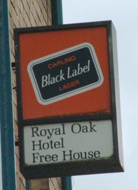 Carling Black Label, the first of the popular brands of lager to be sold in Britain