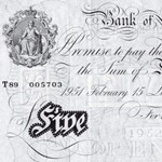 UK banknotes in the 'old money' era (image M. Veissed & Co)