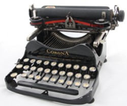 Corona 3 Portable Typewriter 1915