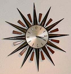 Metamec sunburst clock, 1960s