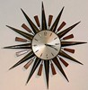 Sunburst clock, 1960s