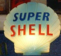 Super Shell petrol pump sign, 1960s