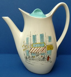 Midwinter Cannes coffee pot by Hugh Casson (image: Amelia2979)