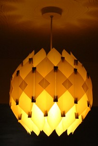 60s retro lighting 60s lampshade made from self assembly kit aloadofball Gallery