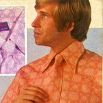 Shirt and matching and matching kipper tie, 1970
