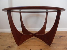 G Plan Round Glass Coffee Table