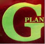 G-Plan red and gold label 1975 to 1985