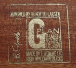 G-Plan Danish brand stamp (image Tim Boalch)