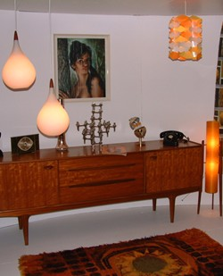 Retro interiors for Furniture 60s style