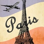 Vintage travel poster for Paris