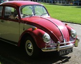 VW Beetle, a hip and groovy car from the 60s